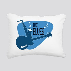 The Blues Retro Guitar S Rectangular Canvas Pillow