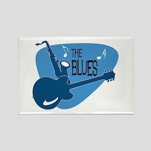 The Blues Retro Guitar Saxophone Magnets