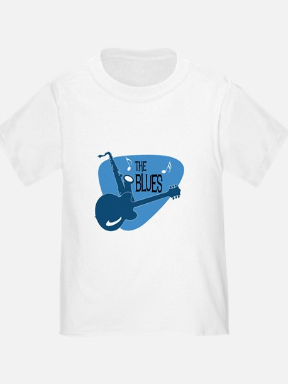 The Blues Retro Guitar Saxophone T-Shirt