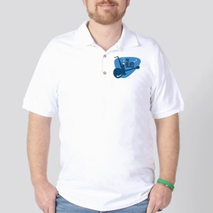 The Blues Retro Guitar Saxophone Golf Shirt