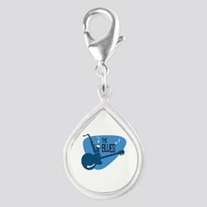 The Blues Retro Guitar Saxophone Charms