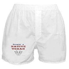 Growin' a Native Texan Boxer Shorts
