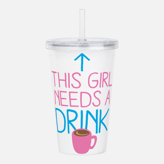 Cute Decaf Acrylic Double-wall Tumbler