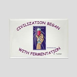 Civilization Fermentation Rectangle Magnet
