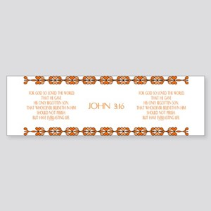 John 3:16 Bible Verse Bumper Sticker