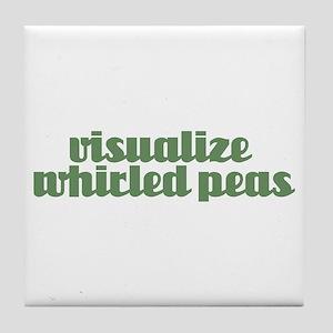 VISUALIZE PEAS Tile Coaster