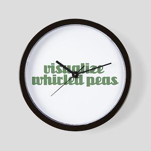 VISUALIZE PEAS Wall Clock