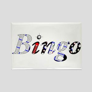 Bingo Dark Mosh Rectangle Magnet