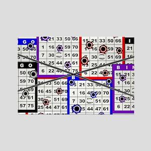Bingo Anger Rectangle Magnet