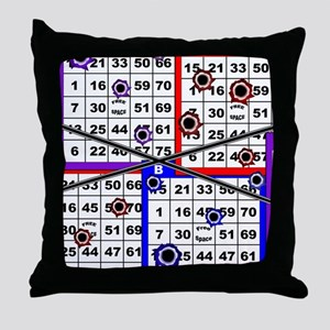 Bingo Anger Throw Pillow