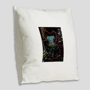 French Quarter Tutu Burlap Throw Pillow