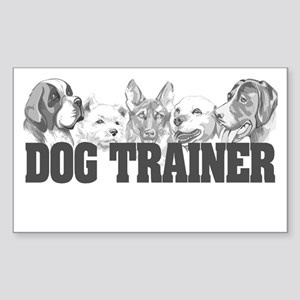 Dog Trainer Rectangle Sticker