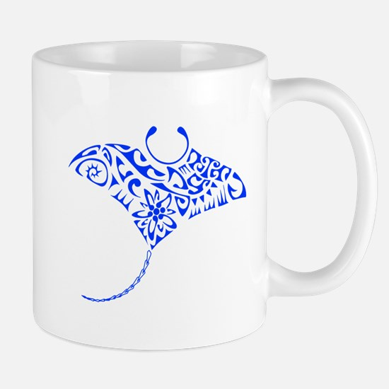 Tribal Manta Ray Mugs