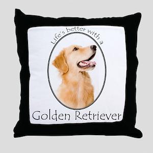 A Golden Life Throw Pillow