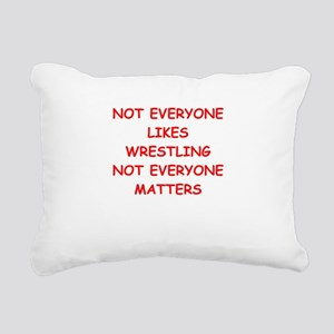 wrestling Rectangular Canvas Pillow