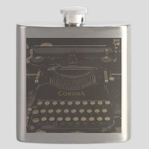 antique typewriter Flask