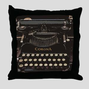 antique typewriter Throw Pillow