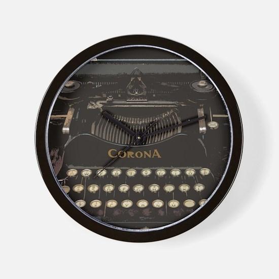 Funny Typewriter Wall Clock