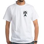 Christian Biker Chopper Cross White T-Shirt