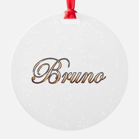 Gold Bruno Ornament