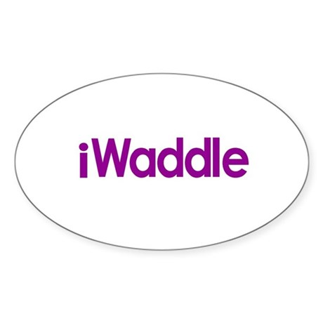 iWaddle Oval Sticker