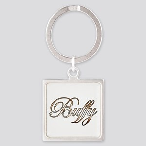 Gold Buffy Square Keychain