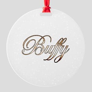 Gold Buffy Round Ornament