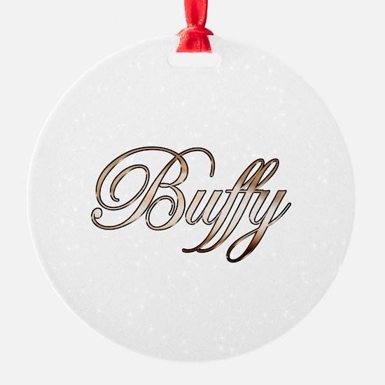 Gold Buffy Ornament