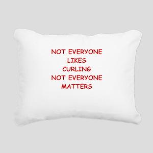 curling Rectangular Canvas Pillow