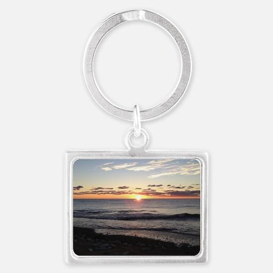 Sunrise, Illinois State Beach Landscape Keychain