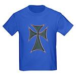 Christian Biker Chopper Cross Kids Dark T-Shirt