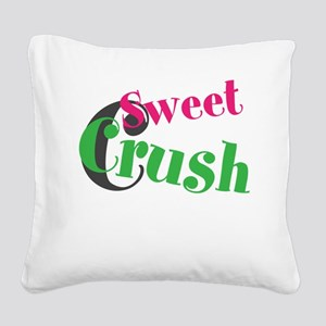 Sweet Crush Square Canvas Pillow