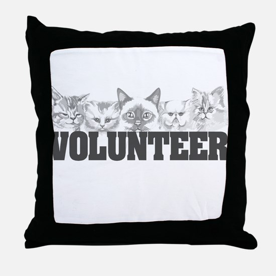 Volunteer (cats) Throw Pillow