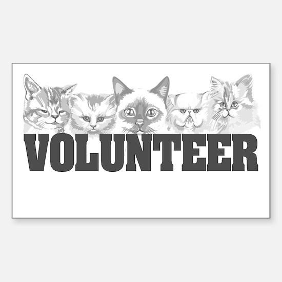 Volunteer (cats) Rectangle Decal