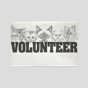 Volunteer (cats) Rectangle Magnet