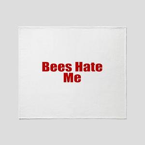 Bees Hate Me Throw Blanket