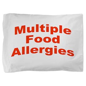Multiple Food Allergies Pillow Sham