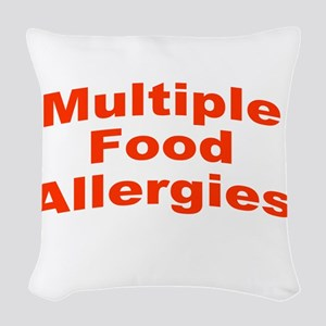 Multiple Food Allergies Woven Throw Pillow
