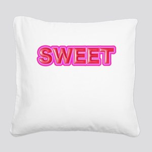 SWEET Square Canvas Pillow