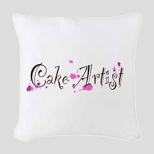 Cake Artist Woven Throw Pillow