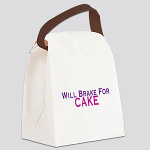 Will Brake For Cake Canvas Lunch Bag