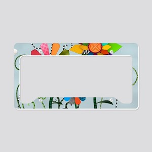 Whimsical Flowers License Plate Holder