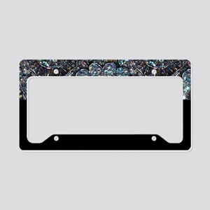 Beaded Sequin Flowers Photo License Plate Holder