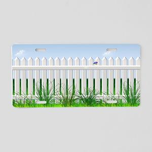 The Garden Fence Aluminum License Plate