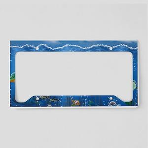 Underwater Love License Plate Holder