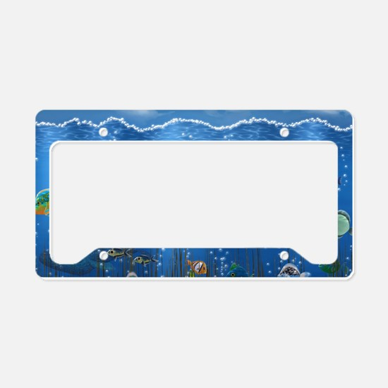 Underwater Love License Plate Holder