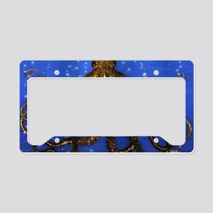 Octopus' Lair - colorful License Plate Holder
