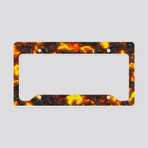 Hot Lava License Plate Holder