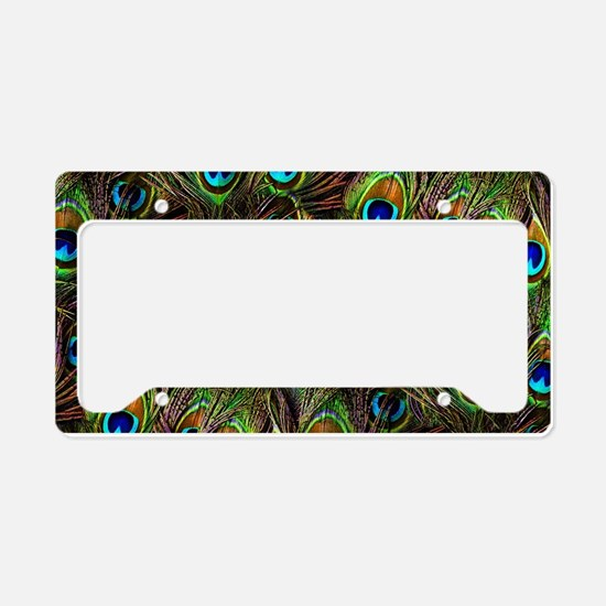 Peacock Feathers Invasion License Plate Holder