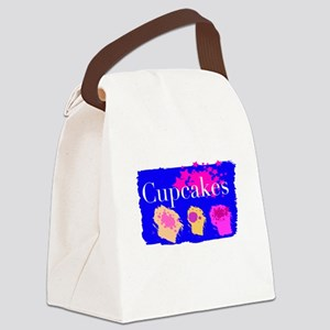 Three Cupcakes Canvas Lunch Bag